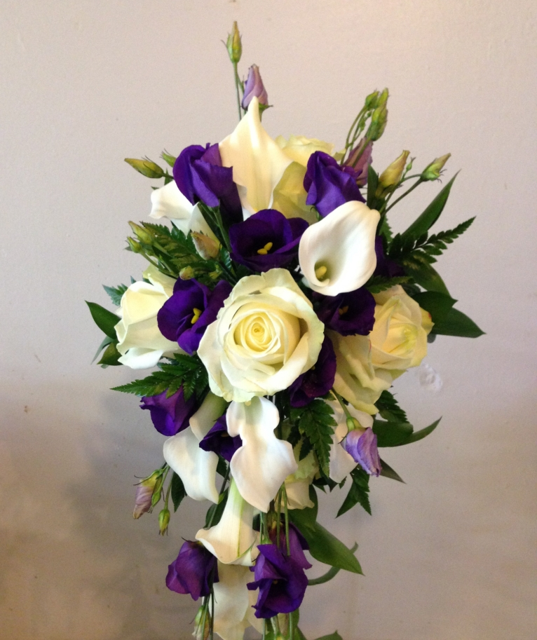 Purple & Cream Shower Bouquet