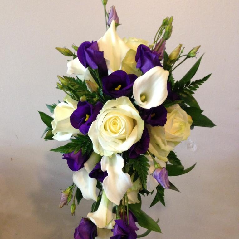 Purple & Cream Shower Bouquet